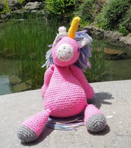 pink crochet unicorn